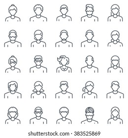 Employee, office people avatars suitable for info graphics, websites and print media and  interfaces. Line vector icon set.