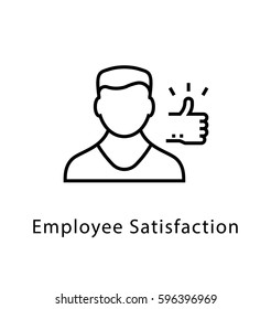 Employee Satisfaction Vector Line Icon