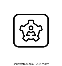 Employee skills line pictogram isolated on white background. Development and advancement outline vector icon.