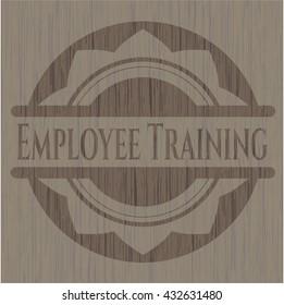 Employee Training wood emblem. Retro