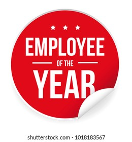 Employee of the Year label sticker