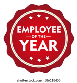 Employee of the year stamp.Sign.Seal.Logo