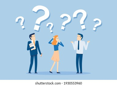 Employees do not understand orders and questions, Vector illustration in flat style