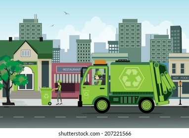 Are employees of garbage collection in the city.