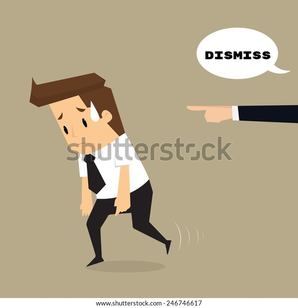 Employees getting fired by boss.vector