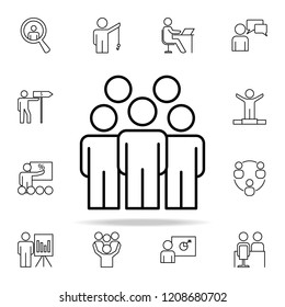 employees icon. Business Organisation icons universal set for web and mobile