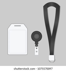 Employees identification card, Tag name, Vector, Illustration.