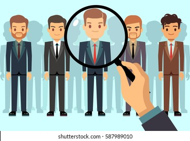 Employer of choice, candidate selection, employees group management business recruitment vector concept