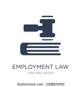 employment law icon. Trendy flat vector employment law icon on white background from law and justice collection, vector illustration can be use for web and mobile, eps10