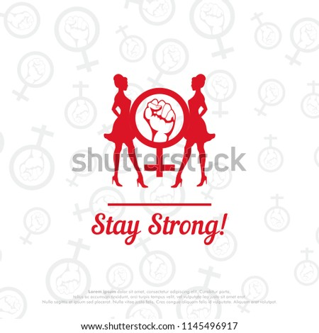 Empowerment Symbol Stay Strong Woman Stock Vector Royalty Free