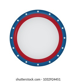 Empty american campaign button