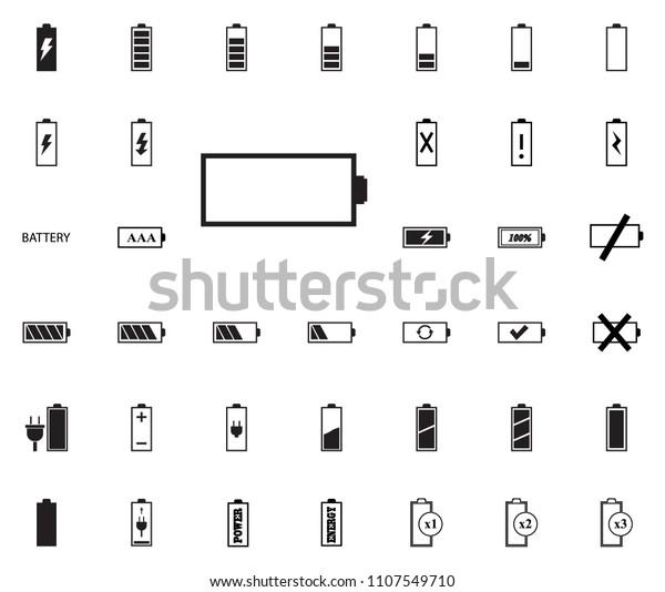 empty battery icon battery vector illustration stock vector royalty free 1107549710 shutterstock