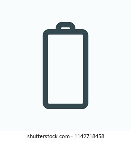 Empty battery vector icon