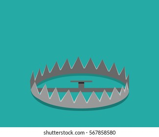 Empty bear trap , vector design