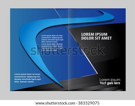 empty bifold brochure template design stock vector royalty free