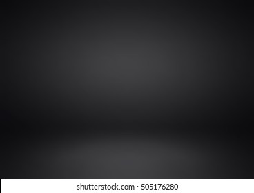 Empty black studio room, used as background for display your products - Vector