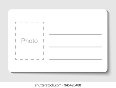 empty blank id card vector illustration stock vector royalty free
