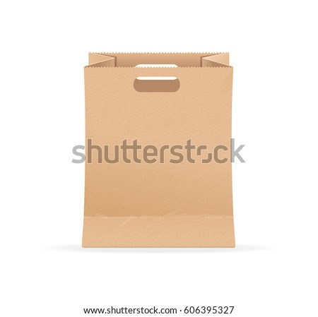 empty blank template paper bag sale stock vector royalty free
