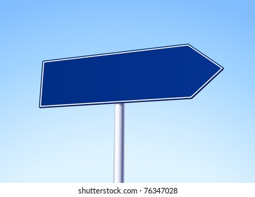 Empty blue arrow sign - see more variations in portfolio