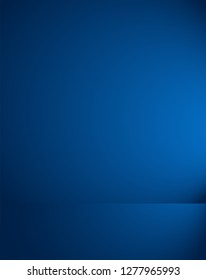 Empty blue studio room Backdrop. Light interior with copyspace for your creative project . Vector illustration EPS 10