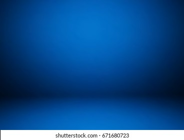Empty blue studio room, used as background for display your products - Vector