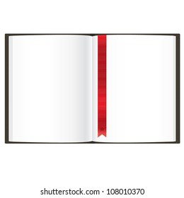 Empty Book, Isolated On White Background, Vector Illustration