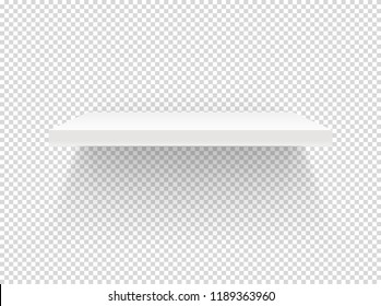 Empty book shelf isolated on transparent backgroud