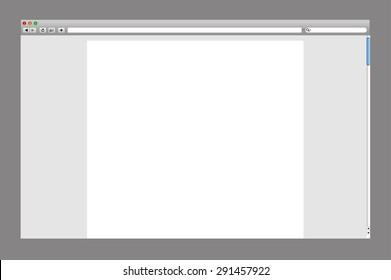 Empty Browser Page Template