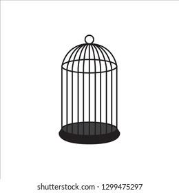 An empty cage for a bird.Vector