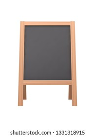 Empty Chalkboard - Isolated on White