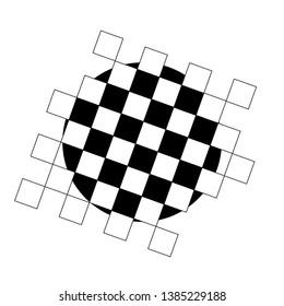 Empty chess board. Chess board. Texture. Vector illustration
