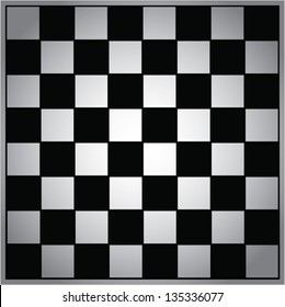 Empty chess board vector background