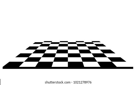 Empty chessboard. checkers vector illustration.