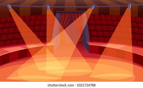 Empty circus arena