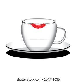 Empty coffee, tea cup vector
