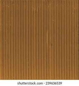 Empty corrugated brown fiberboard background.  Vector template. Can be used for wallpaper, pattern fills, web page background and surface textures.