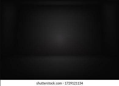 empty dark room vector design illustration eps.10