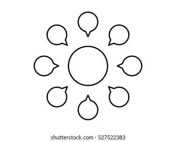 Empty diagram design.