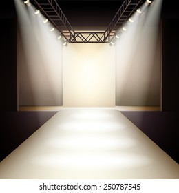 Empty+fashionshow+catwalk Stock Illustrations, Images