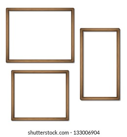 Empty frames of wood