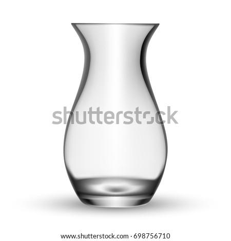 Empty Glass Vase Vector Illustration Stock Vector Royalty Free
