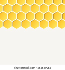 Empty honeycombs background. Vector, for advertising, brochures. Square.