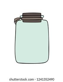 empty jar drawing