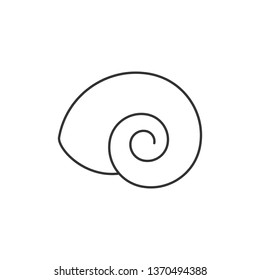 Empty Land Snail Shell or Gastropod Shell Vector Icon for Wildlife Apps and Websites.