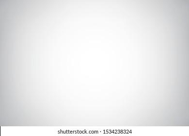 Empty light gray studio backdrop.  Abstract soft gradient background. Vector EPS 10