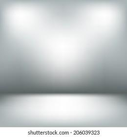 Empty light interior. Gray room abstract background
