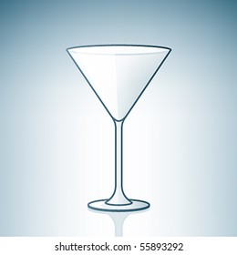 Empty Martini Glass (part of the Alcohol Glass Icons Set)