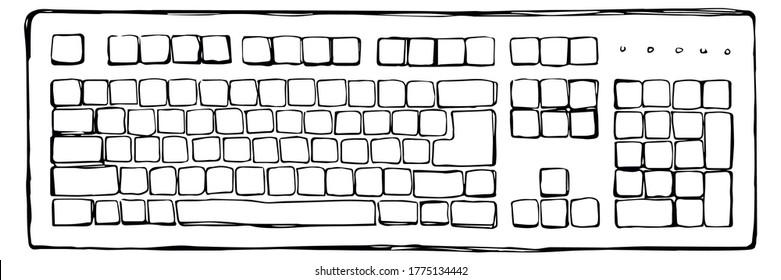 Tastatur. Vektorgrafik-Symbol