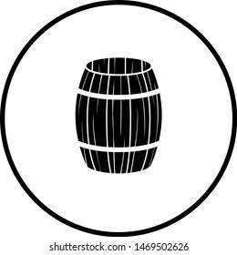 empty open wooden barrel symbol