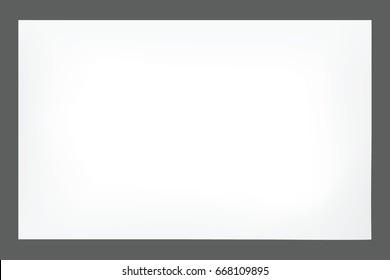 Empty paper sheet. Vector EPS10
